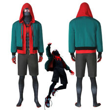 Miles Morales Costume Cosplay Suit SpiderMan Into the Spider-Verse Version1 Made