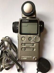 Sekonic L608 Super Zoom master Lightmeter. Good condition.
