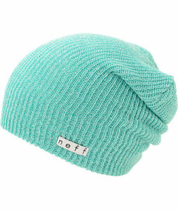 NEFF Daily Heather Beanie Teal/ White Unisex Hat Winter Head Wear