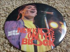 "Nkotb 6"" Big Button Pin New Kids On The Block Jonathon Knight Mic"