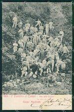 Militari II° Reggimento Fanteria Fugazze Corpo Musicale 1904 cartolina XF4199