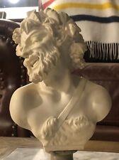 BACCHUS MARBLE ALABASTER BUST Dionysus Statue Greek Roman Professor G. Bessi