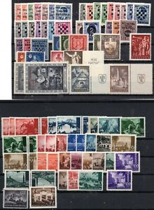 CROATIA NDH - LARGE LOT OF MOSTLY MNH STAMPS - SOME IN COMPLETE SETS