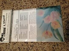 "BOB ROSS FLORAL How To Painting Packet ""Peachy Tulips"" 'Pattern' FREE SHIPPING"