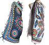 BLACK/WHITE exotic print sarong scarf beach wrap pareo swim-wear summer holiday