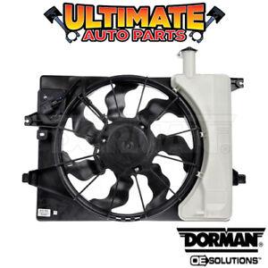 Radiator Cooling Fan w/Overflow (1.8L or 2.0L) for 13-16 Hyundai Elantra