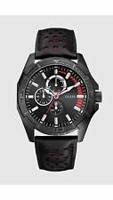 GUESS U15074G1 LUXURY MENS BLACK AND RED SPORT WATCH