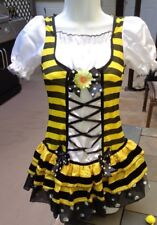 Sexy Rubies Bumble Bee Costume w/1 Piece Short Dress, Wings, Headpiece sz S-M