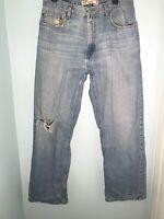 Levi's 569 Men's Loose/Straight Jeans, Sz 32x32, Light Wash 12178
