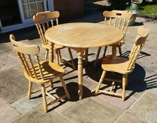 Drop Leaf Table & Chairs ~ Extending Round Table & Chairs