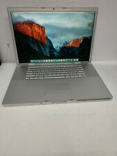 "Apple MACBOOK PRO A1229 17"" Intel Core 2 Duo 2.40GHz 4GB RAM 160GB HDD 10.11.5"