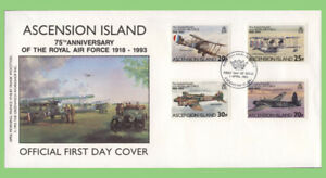Ascension 1993 75th Anniversary of the Royal Air Force set on First Day Cover