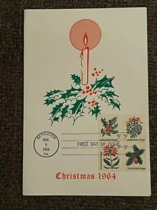 CHRISTMAS FIRST DAY OF ISSUE STAMPS 1964 GREAT CHRISTMAS GIFT FOR A LOVED ONE