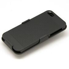 Coque Etui Housse de Protection pour Apple iPhone 5 + Support + Clip Ceinture A