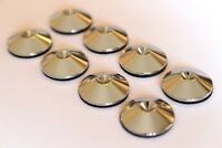 Spike Shoes Pads for Mission Tannoy Floorstander Speakers (X8). Polished Chrome