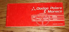 Original 1967 Dodge Polara Monaco Owners Operators Manual Instructions 67