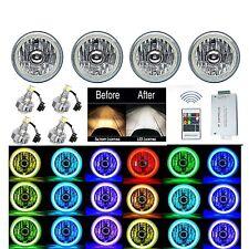 "5-3/4"" RF RGB SMD Color Change Halo Angel Eye Shift Headlamp LED Headlights Set"