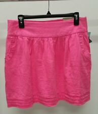 NWT $32 Maurices Women's Pink Solid Linen Blend A-Line Skirt Size: M