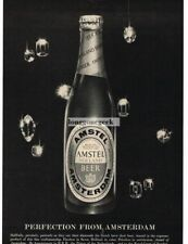 1959 AMSTEL Beer Falling Gems Diamonds VTG PRINT AD