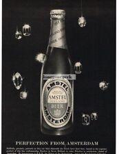 1959 Amstel Beer Falling Gems Diamonds Vtg Print Ad