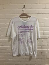 Adidas Originals White Tee Tshirt Top Limited Edition Large BNWT Pink