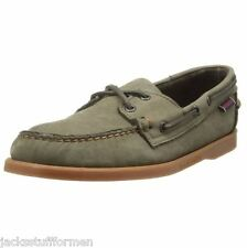 Sebago Docksides Mens Size 12 M Dark Khaki Leather Boat Loafers Shoes $100
