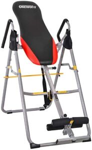 Inversion Table Foldable Heavy Duty Machine Adjustable Height Back Pain Relief