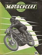 MOTO _ MOTOCYCLES revue bi-mensuelle _N 39 - JUILLET 1950 _ GRAND PRIX MOTOCROSS