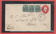 Canada Edward uprated cover to France 5c UPU rate 1908 receiver