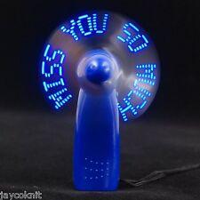 De Adderall's Multicolor Plastic Mini Portable Tech Smart Message Fan Showpiece