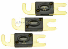 3 Pack 100 Amp Mini ANL Fuse Fuses Gold Plated Inline Quality 100A