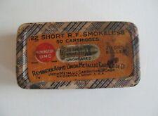Empty ! Vintage! 2-Pc Ammo Box Remington Umc .22 Short R.F. Smokeless Cartridges