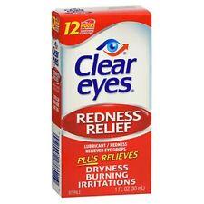 Clear Eyes Soulagement Dès rougeurs Gouttes Yeux 1oz