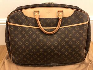 Authentic Louis Vuitton Monogram Alize 2 Poches Travel Weekend Bag