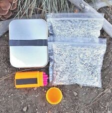 Pocket Survival Fire Starting Kit Magnesium Chips Windproof Matches In a Tin
