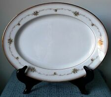 "Noritake ~ ""Joanne"" ~ 13½"" PLATTER ~ #6466 ~ White with Gold Rim ~ Excellent!"