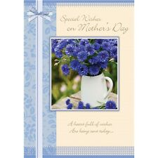 Mother's Day 'Blue Flowers' - Large Card