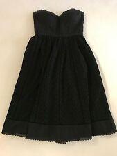Tibi Strapless Bustier Eyelet Dress in Black, Size 0