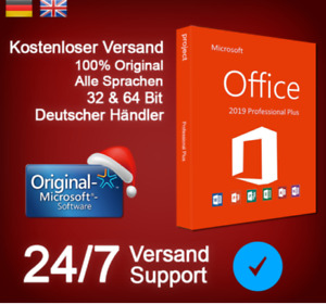 Microsoft®Office 2019 Professional Plus Vollversion✔️Key✔️Pro✔️32/64✔️ MS Retail
