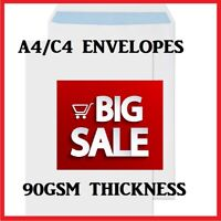 Quality A4/C4 White Plain 90GSM Self Seal Envelopes Strong Paper 324MM X 229MM