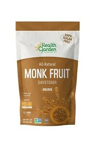 Health Garden Monk Fruit Golden Sugar Free Sweetener Zero Calories 453g (1lb)