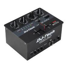 Dj Tech Práctico y pequeño portátil Mini Cero Cortes Mezclador Con Batería + Innofader