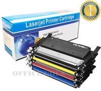 4-Pack Toner Set for Samsung C410W C460FW C460W CLP-365W 360 CLX-3305FW CLT-406S