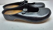 Naot Size 9M 40 Black Rubber Mary Jane Mule Slip On Strap Casual Shoes For Women