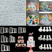 Fondant Plastic Cookie Cutters Mold Biscuit Sugar Mould Cake Decor Baking Tool