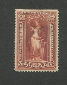 1895 US Newspaper Periodical Stamp #PR120 Mint Hinged VF OG, CERT sulpherized
