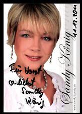 Sandy König Autogrammkarte Original Signiert ## BC 47175