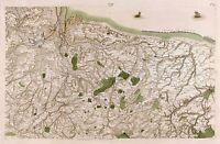 MAP CASSINI FRANCE 18TH CENTURY TREVIERES CALVADOS REPLICA POSTER PRINT PAM0819