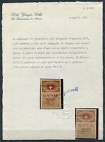 Autriche 1870 Neuf * 100% Certificat Colle, 1.20 K, Vienna Private Company