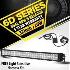 6D 32Inch 720W LED Work Light Bar Combo Beam Offroad UTE Driving Lamp 4x4WD